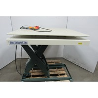 "Southworth 2000lb Hydraulic Scissor Lift Table 48x48"" Turn Top 10 to 45""H 115V"