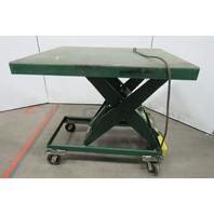"""Southworth LS2-36 2000Lb Hydraulic Scissor Lift Table 49x42"""" Top 15-45""""H 115V"""
