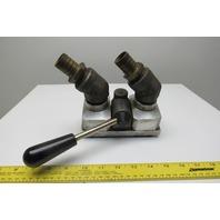 Staubli Brevete SGDG 2 Way 6 Port Injection Molding Selector Manifold