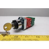 RB2-BE-101 RB2-BE-102 240V 3 Position Keyed Selector Switch 240V 10A