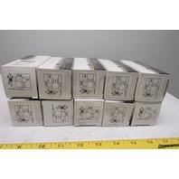 Leviton 2430 20A 480V 3Ph 3Pole Grounded Locking Receptacle Black Lot Of 10