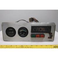 Crown 45RRTT-S Battery Hour Meter Instrument Panel Narrow Aisle Forklift 36V