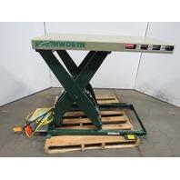 """Southworth LS2-36 2000Lb Hydraulic Scissor Lift Table 48x36"""" Top 7-43"""" Lift 460V"""
