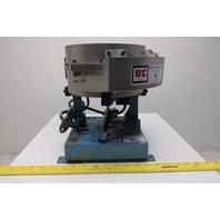 "B&C Fabricating 8 CM 8 x 8"" Single Driver Vibratory Feeder Rivet Screw Bowl 120V"