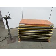 "Airfloat B10-0117-2 Pneumatic Air Scissor Lift Table 2000Lb 24""x48"" Top 8""-32""T"