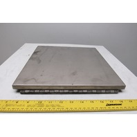 """Electrical Enclosure Fold Down Shelf 12""""x12"""" Stainless Steel"""