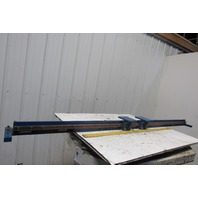 """89-1/2""""x7""""x4-1/2"""" Linear Guide V-Groove Wheels Double Machine Carriage"""