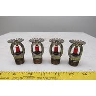 """Rasco 155°F Fire Sprinkler Head 1/2"""" NPT Lot Of 4"""