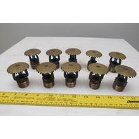 "Viking 246S SSU 286°F ASCOA Brass Fire Sprinkler Head 3/4"" NPT Lot Of 10"
