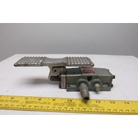 """Fluid Power Components TE2 4 Way Pneumatic Foot Pedal 1/4"""" Ports"""