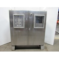 """Free Standing Stainless Steel Electrical Enclosure 72x72x20"""" W/Backplate"""
