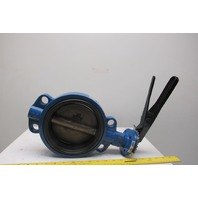 "FNW FNW711E 6"" 200 PSI Wafer Lever Handle Butterfly Valve"