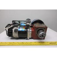 Sanyo Denki L720-039E84 170W 30V 2600RPM Servo 50:1 Reducer Brake Drive Assembly