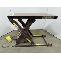 "Autoquip 36S25 2500Lb Hydraulic Scissor Lift Table 48""x24"" Top 7.5-48""HT 3Ph"