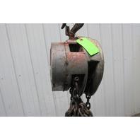 CM 1 Ton Manual Chain Fall Hoist 2000 Lbs. 28' Travel 17' Pendant Chain