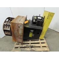 """Heat Exhaust 30x30"""" Plug Blower 7.5HP Belt Driven 27"""" Stainless Steel Fan 3Ph"""