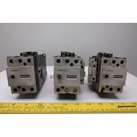 Siemens 3TF4422-OB 600V 31Hp MAX Magnetic Contactor 24VDC Coil Lot Of 3