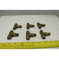 Parker Brass PRESTOLOK Male Branch Tee Swivel 3/8 TUBE X 1/4 NPTF Lot of 6