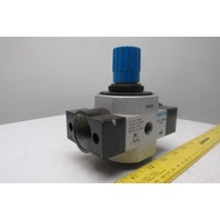 """Festo LR-D-7-MAXI 16 Bar 240PSI 1"""" Ports Pneumatic Air Pressure Regulator"""