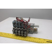 SMC SY5120-5GZ-C5 4/2 Position Solenoid Operated Air Valve Bank Manifold 24VDC