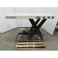 """Southworth 2000Lb Hydraulic Scissor Lift Table 48x42"""" Top 7-43""""H 480V 3Ph"""