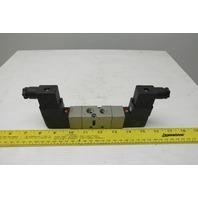 SMC NVF3330-3DZ-02T 4/3 Position Double Solenoid Valve 94-138V