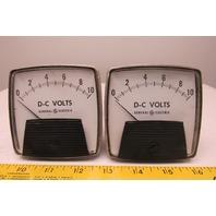 General Electric 50-162011MTMT 0-10 V DC Analog Ammeter Panel Meter Lot Of 2
