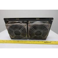 Sanyo Denki 109S078UL 200V 50/60Hz Cooling Fan Panel Mount Steel Louver Set