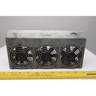 Sanyo Denki 109R0824H402 24VDC 3 Cooling Fans on Panel Mount