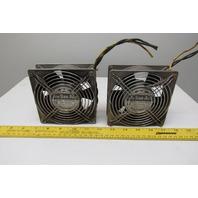 Sanyo Denki 109S078UL 200V Panel Mount Cooling Fan Lot Of 2