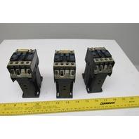 Telemecanique D1210 600V 10Hp Max Magnetic Contactor Starter 24V Coil Lot Of 3
