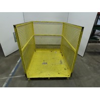 "48"" x 40"" 47"" Tall Forklift Man Lift Aerial Work Platform Basket"