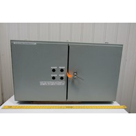 """Hoffman A244208WFLP Electrical Enclosure Double Door 24""""x42""""x8"""" W/Backplate"""