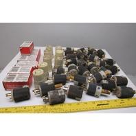 Legrand Hubbell L515-C 15A Twist Lock 125V Assorted Male/ Female Plug Lot Of 40+