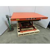 "Presto X3W2440 3500Lb Hydraulic Scissor Lift Table 60x48"" Top 7-1/4""-32"" Ht 115V"
