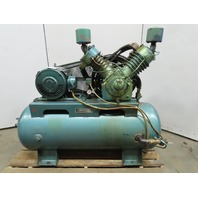 Kellogg American DB462A 25Hp 2 Stage Piston Air Compressor 120 Gal. 230/460V 3Ph