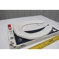 Church 295CT Commercial Elongated White Open Front Toilet Seat No Cover