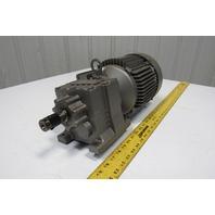 Sew Eurodrive R27DT90S4 15.63:1 Ratio 1.5Hp 230/460V Inline Gear Motor