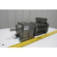 Sew Eurodrive R37DRN80M4 5.66:1 Ratio 309RPM 1Hp 230/460V Inline Gear Motor