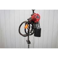 """ARO 7756ET 1/2 Ton 1000lb Air Pneumatic Chain Hoist 9' 6"""" Lift 41FPM"""
