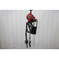 """Ingersoll Rand 7756E-2A10-C6 1/2 Ton Air Pneumatic Chain Hoist 9' 6"""" Lift 41FPM"""