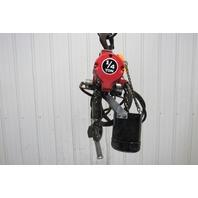 ARO 7718E-2C10-C6U 1/4 Ton 500LBS Air Pneumatic Chain Hoist 10' Lift 82FPM