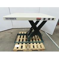"Southworth 48""x40"" Hydraulic Scissor Lift Table 7-43"" Lift 115V"