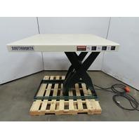 """Southworth 2000Lb Hydraulic Scissor Lift Table 48x42"""" Top 7-43""""H 115V"""