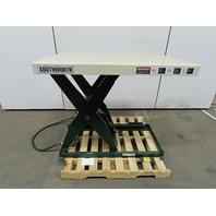 """Southworth 2000Lb Hydraulic Scissor Lift Table 48x36""""Top 6-3/4-42-5/8"""" Lift 460V"""