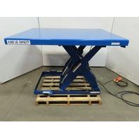 """4000Lb Hydraulic Scissor Lift Table 60"""" x 48"""" Top 7""""-41"""" Ht 115V"""