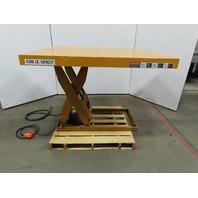 "4000Lb Hydraulic Scissor Lift Table 60"" x 48"" Top 7""-46"" Ht 480V 3Ph"