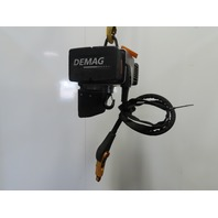 "Demag 1100LB Capacity Electric Chain Hoist 2 Speed 8/16FPM 230V 3Ph 16' 4"" Lift"
