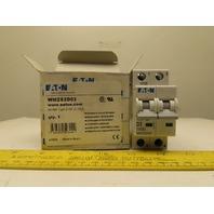 Eaton Cutler Hammer WMZS2D03 3AMP 2 Pole circuit Breaker DIN Rail Mount