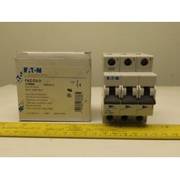 Eaton Cutler Hammer FAZ-D3/3 3AMP 3 Pole Circuit Breaker DIN Rail Mount